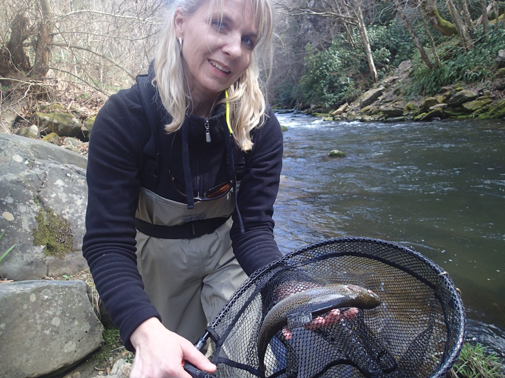 Fly fishing on the Upper Nantahala